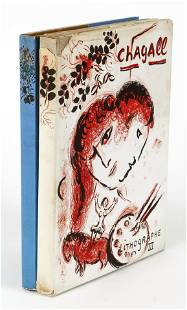Marc Chagall Lithograph III and IV lot of 2 books