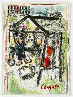 Marc Chagall Derriere Le Miroir 182 with lithos 1969