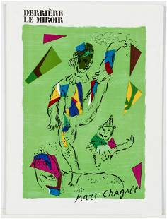 Marc Chagall Derriere Le Miroir 235 with lithos 1979