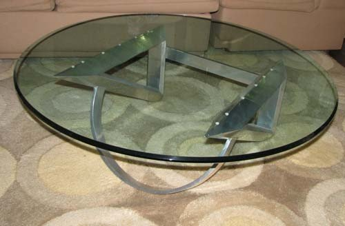 5: Aluminum and Glass Coffee Modern Table