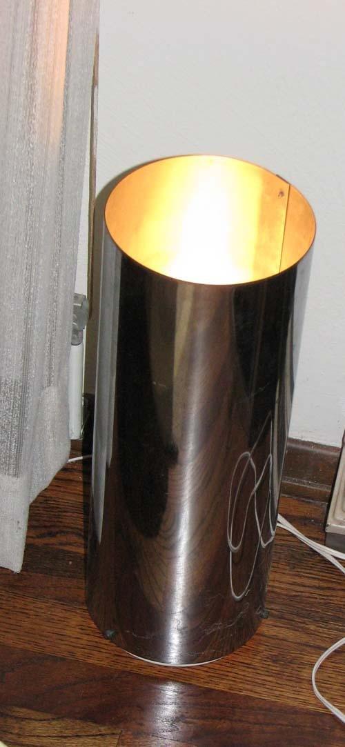 6: Pair Modern Lamps; Round Desk Lamp & Spotlight Floor