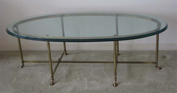 9: Brass and Glass Coffee Table