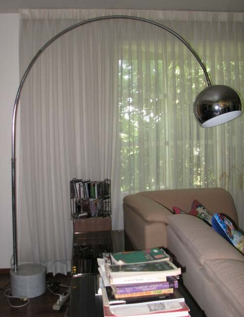 12: Arco Style Curved Chrome Lamp