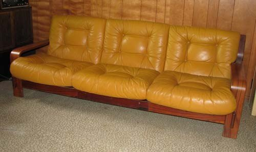 14: Finnish Modern Leather Couch