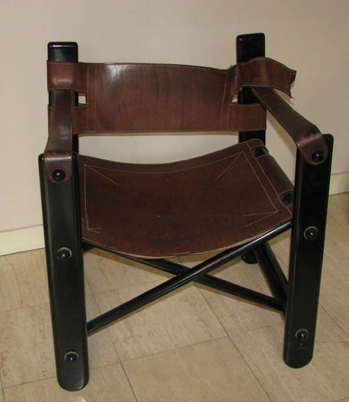16: Modern Leather and Wood Chair