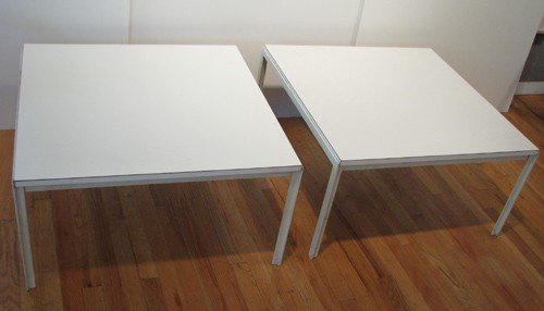 54A: Pair of Florence Knoll Steel frame Coffee Tables
