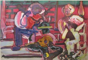 Romare Bearden  Louisiana Serenade From The Jazz
