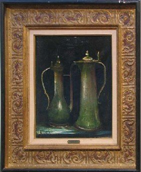 R. J. Bizet Still Life Nature Morte Etain 1968