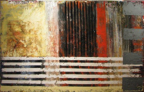 176: Mary Collins Large Abstract painting