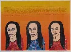197: Howard Finster Mona Lisa Print