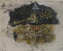 203 Johnny Friedlaender Abstract Color Etching with Bi