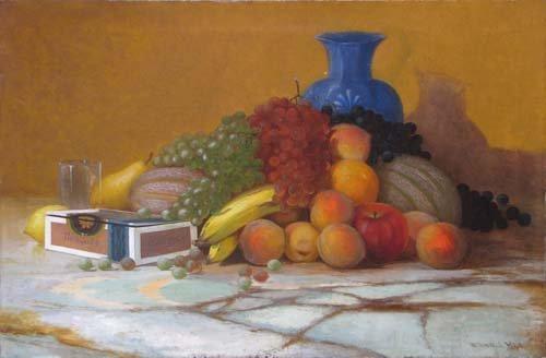 785: Edward Hill painting Fruit Still Life