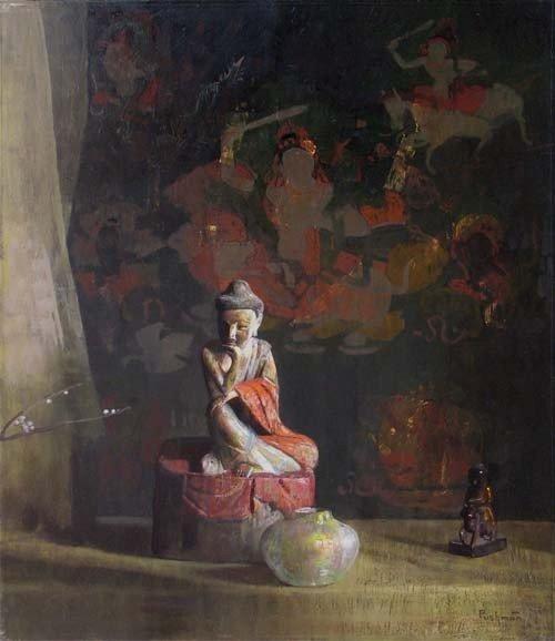"807: Hovsep Pushman ""My Past Dreams"" Orientalist Painti"