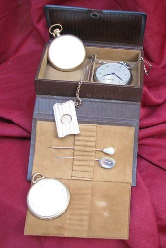 12: Three Open Face Pocket Watches incl. Grogan Jeweled
