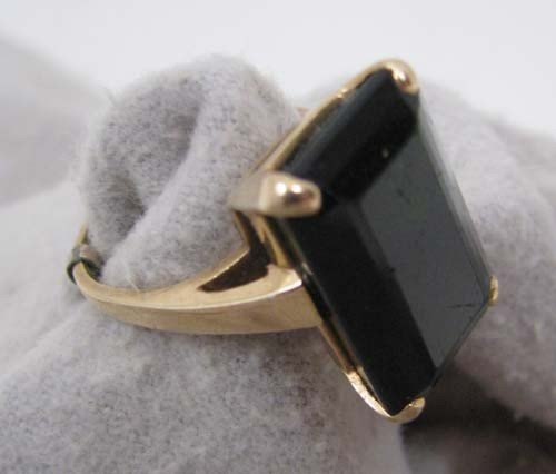15: Lady's Deep Green Tourmaline ring