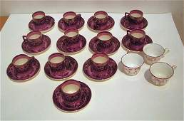 148 12 lustre Fallow Deer Wedgwood cups and saucers