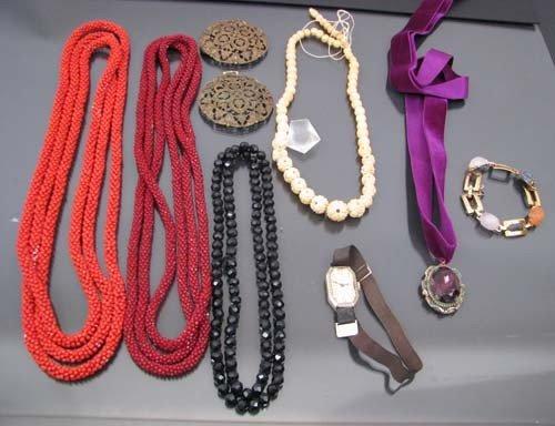 520: Asst costume jewelry inc. necklaces, watch, bracel