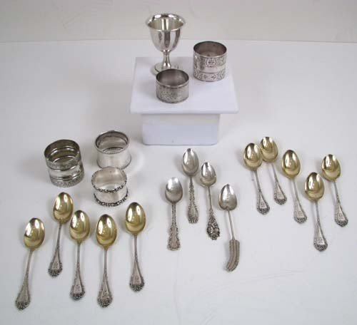 565: Assorted Sterling and Silverplate Napkin Rings