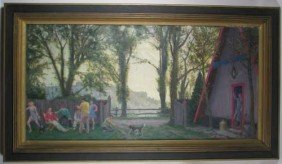 Malcolm Parcell Family Gathering Painting