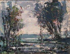 Hugh M. Poe 1957 Impressionist Landscape