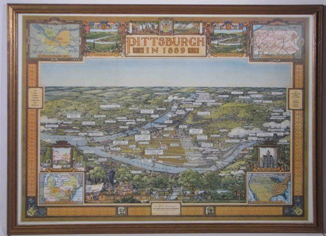 644: Topographical Pittsburgh in 1889 and 1939 prints