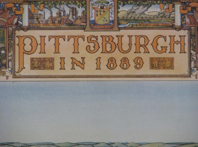 644: Topographical Pittsburgh in 1889 and 1939 prints - 2