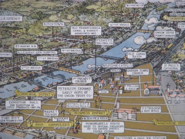 644: Topographical Pittsburgh in 1889 and 1939 prints - 3