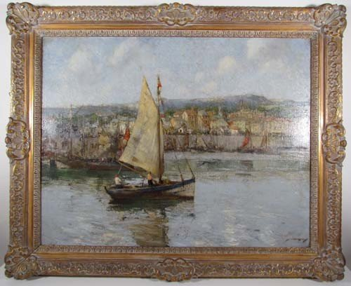 794A: William Lee-Hankey Sailboat at Honfleur