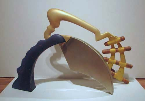 2: Modern Biomorphic Polychromed Sculpture