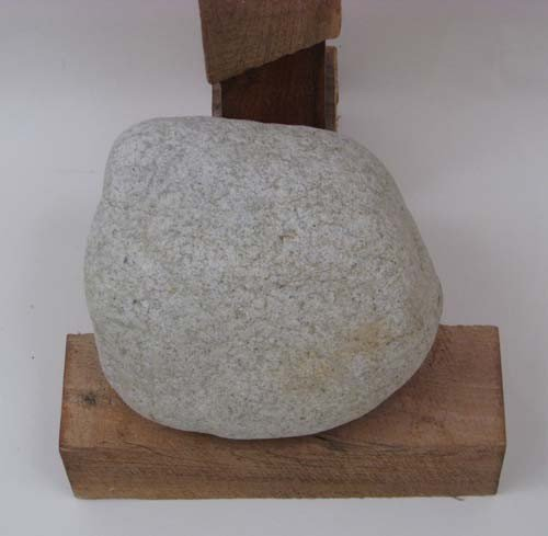 6: Tadao Arimoto Wakarimasu Wood Stand with Rock Weight - 3