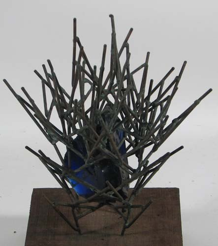 11: Glen Davis 1972 Blue Glass and welded brass