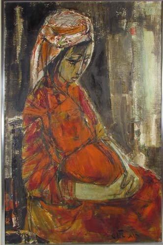 61: Israeli portrait of Pregnant Ruth - 2