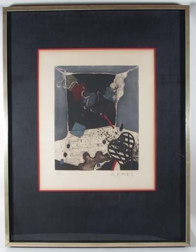 72: Tetsuo Araki Untitled color etching