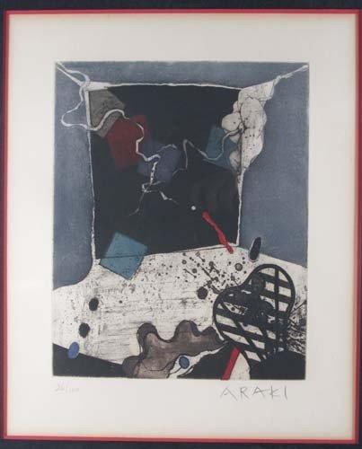 72: Tetsuo Araki Untitled color etching - 2
