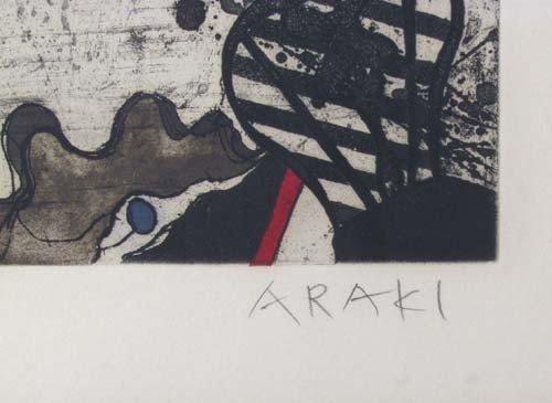 72: Tetsuo Araki Untitled color etching - 3