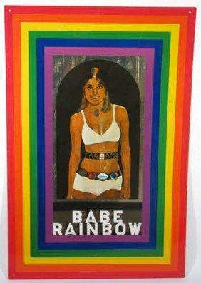 """Sir Peter Blake Serigraph On Metal """"Babe Rainbow"""""""