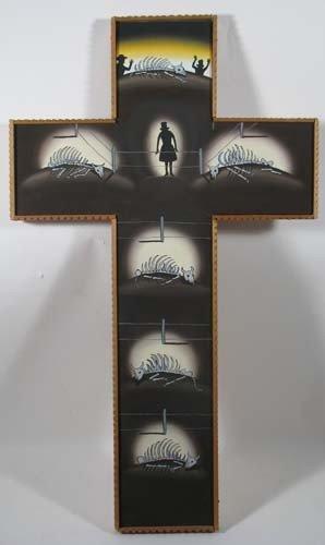 97: Roger Brown ptg. Ranchers Crucifix Gold Street Albu