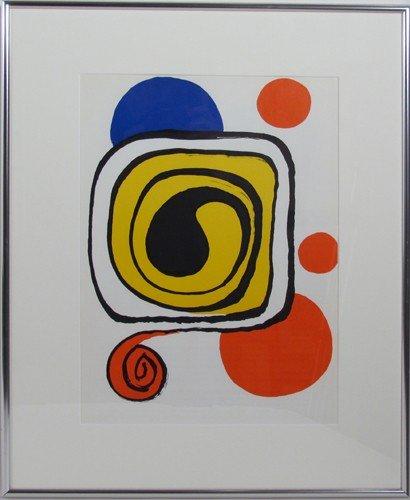 103: 2 framed Calder lithographs from Derrière le miroi