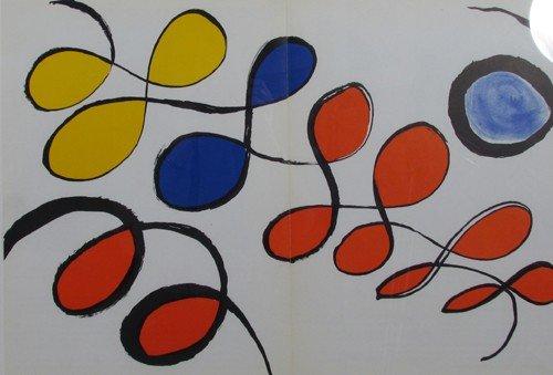 104: double page Calder lithograph from Derrière le mir