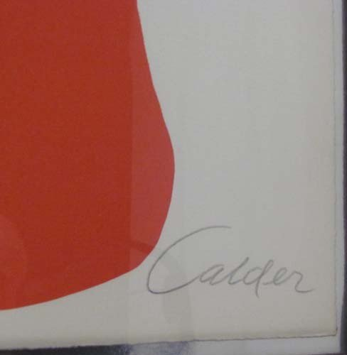 105: Alexander Calder lithograph Butterflies and Swirls - 2