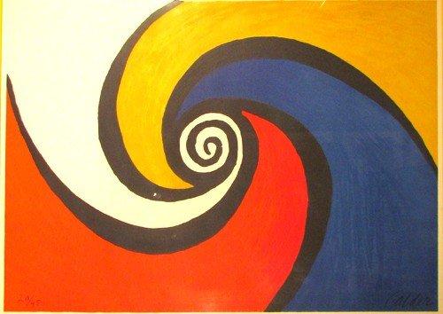 107: Alexander Calder Blue et Rouge litho