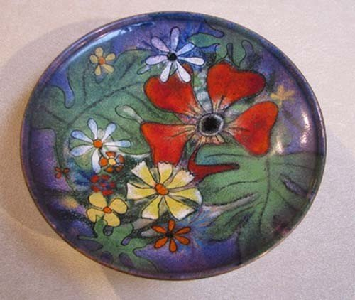 108: Lucile Cantini enamel on metal small bowl