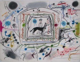 Roy DeForest Drawing Of Man And Dog