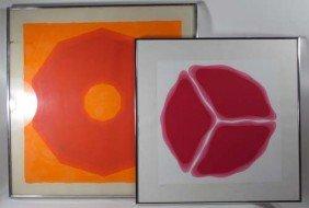 Pair Of Nobu Fukui Untitled Serigraphs