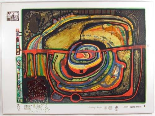 169: Hundertwasser screenprint Die funfte Augenwaage