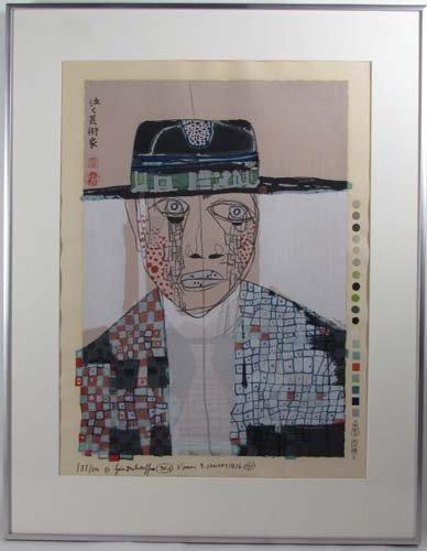 170: Hundertwasser woodcut Tears of an Artist