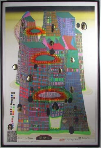 171: Hundertwasser screenprint Good Morning City