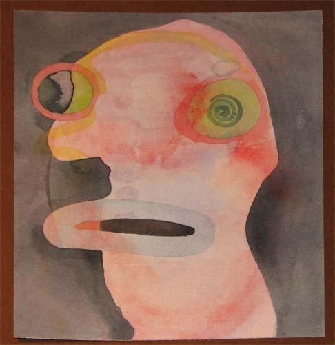 175: Gerald Janosco watercolor of Head