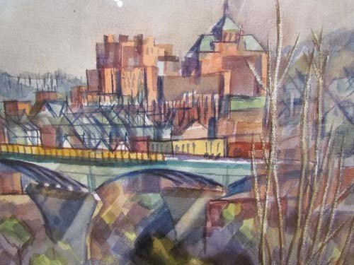 181: Henry Koerner Bloomfield Bridge watercolor - 5