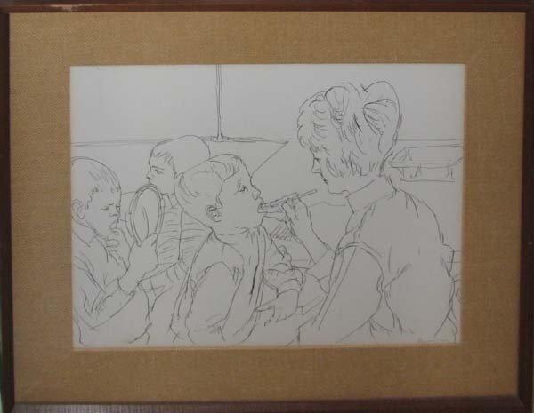 183: Henry Koerner Dentistry School Drawing
